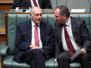 Deputy Prime Minister Warren Truss with his likely successor Agriculture Minister Barnaby Joyce