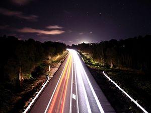 Sunshine Motorway at the back of Coolum.