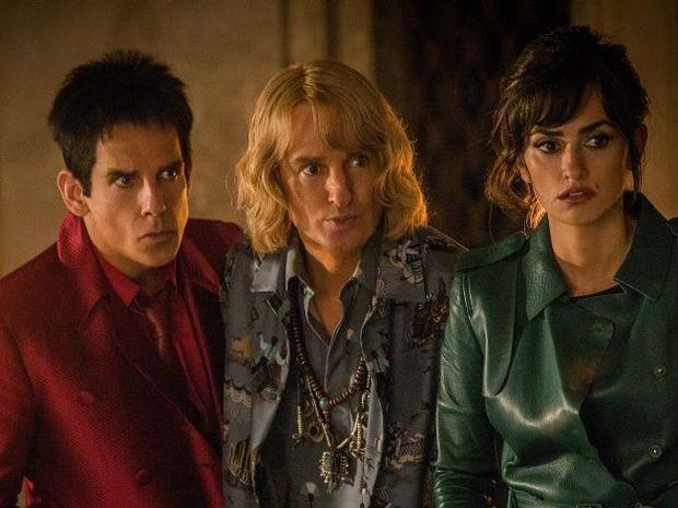 Ben Stiller, Owen Wilson and Penelope Cruz in a scene from the movie Zoolander 2.