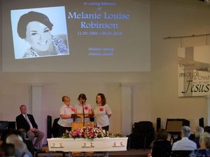 IN LOVING MEMORY: The funeral service of Melanie Robinson was held at the Bundaberg Baptist Church. Photo: Mike Knott / NewsMail
