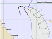 TROPICAL Cyclone Tatiana is expected to continue moving slowly in a generally southeasterly track through the remainder of today (Thursday) and into Friday.