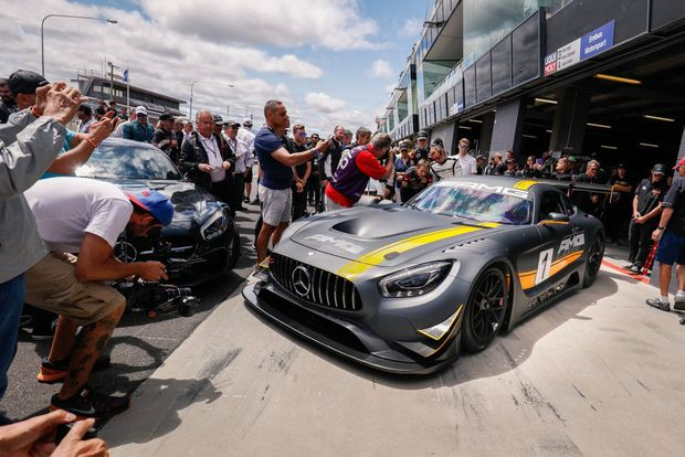 2016 Mercedes-AMG GT3 revealed at the 2016 Bathurst 12 Hour. Photo: Contributed