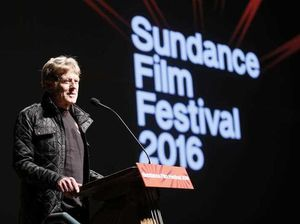 "Robert Redford, founder and president of the Sundance Institute speaks at the premiere of ""Norman Lear: Just Another Version of You"" during the 2016 Sundance Film Festival in Park City, Utah."