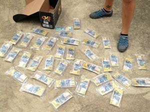 STASH: This is what $190,000 looks like, seized during a search warrant in at Induna St in South Grafton yesterday.