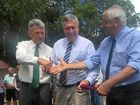 Mayor Peter Petty, Tenterfield Shire Council; The Hon Duncan Gay MLC, Minister for Roads, Maritime & Freight; The Hon Thomas George MP, Member for Lismore
