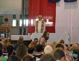 Students welcome chaplain