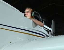 Kyla, 15, takes off on her first solo circuit