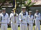 TS Toowoomba Australian Navy Cadets assessment day. Leading the colour party, Brianna Brett
