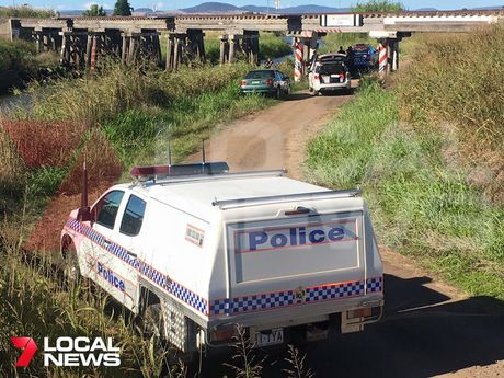 A 7 Local News Toowoomba photograph of the scene where a body was found.