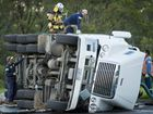 UPDATE: Fuel tanker rollover forces detour until morning
