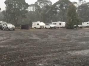 VIDEO: Feeling the heat? It's snowing in Tasmania