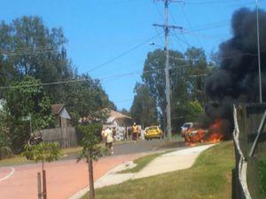 Car Fire as it Happened