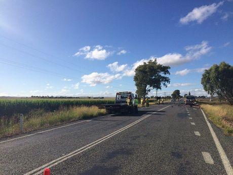 The scene of the fatal crash near Clifton.