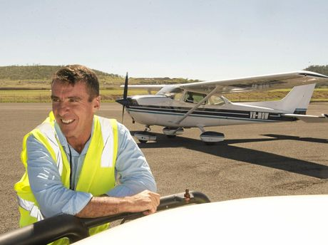 LAND TO AIR: Mark Droney is excited to start using his Cessna 172 to replace his ute as his main means of work transport.