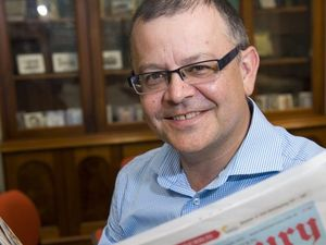 APN Australian Regional Media CEO Neil Monaghan with a copy of the Daily Mercury