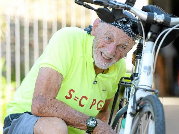 BIKE SAFE: Roy Fraser stresses the importance of bike maintenance.