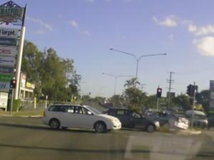 Dashcam captures red light runner