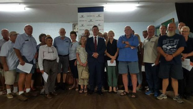 Launch of anti-islam party in Bundaberg last night.
