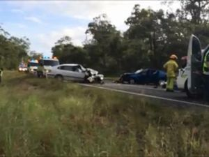 Scene of a crash between Maryborough and Hervey Bay