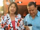 Jenny McKay speaks at the Nambour outdoor broadcast.