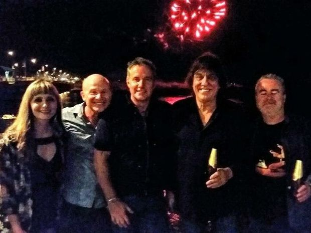 Jon English in Mackay for New Year's Eve celebrations in 2015.