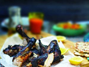 Recipe: Spiced barbeque chicken wings with pineapple salsa