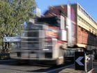 A cattle truck makes its way into Rockhampton over the Yeppen Lagoon Bridge.   Photo Chris Ison / The Morning Bulletin   ROK110511cbridge1