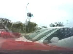Dash Cam of Prius vs HSV GTS
