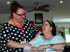 Suzi Holden had her life turned upside down when she had a brain tumor removed. She is now happy and in good hands with Head Coordinator, Kirin Hagicostas at Wesley Care, Tewantin. John McCutcheon / Sunshine Coast Daily