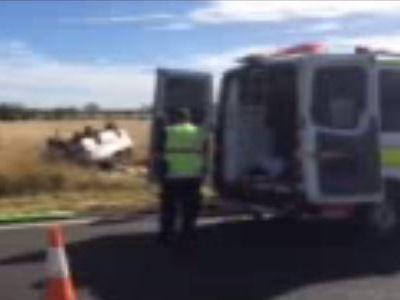 The crash scene at Wallumbilla.