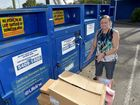 Shelley Chick is asking people not to leave donated items outside the Lifeline charity bins. Photo: Warren Lynam / Sunshine Coast Daily