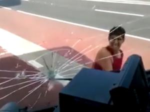 Man attacks bus