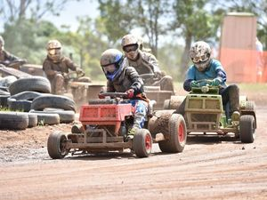 WATCH: 12yo mows down the competition on the race track