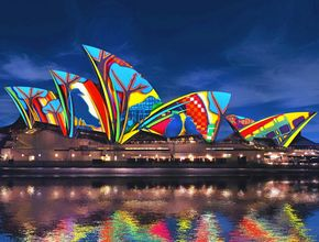 WATCH: Local artists 'paint' the Opera House with light