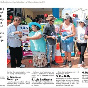 Thumbnail for BUNDY ELECTION DAY:Rowleson in the lead in Division 6