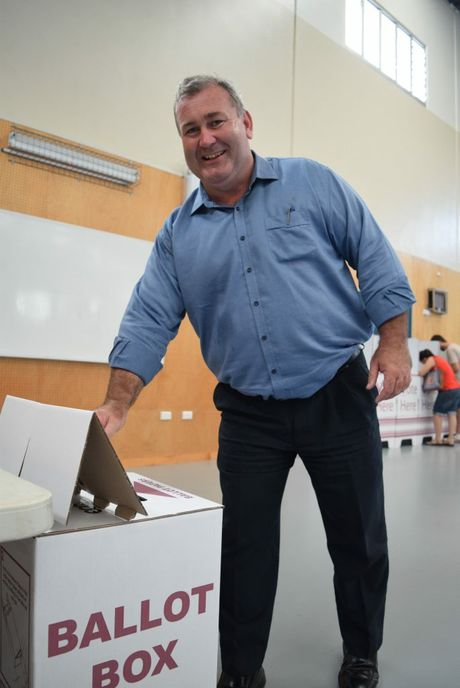 Bundy Votes 2016: Voting at Norville School in Bundaberg.