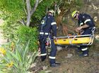 The QFES undertook a vertical rescue exercise in Springfield Lakes on Friday.Photo: Rob Williams / The Queensland Times