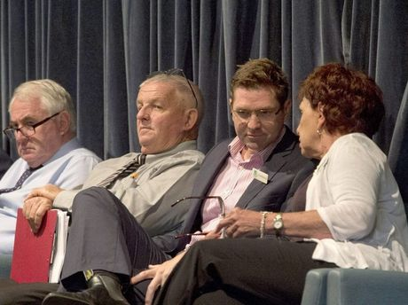 Paul Antonio, Rob Berry, Geoff McDonald and Carol Taylor. Toowoomba Regional Council Candidate Forum at the City Golf Club.