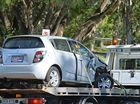 A two vechnical crash occured on Brisbane Road around 8.15am, no injuries reported. Photo Patrick Woods / Gympie Times.