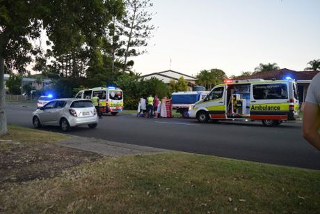 TRAGIC CRASH: A man has died after his bike collided with a parked ute on Torquay Tce in Torquay on Tuesday afternoon. photo Lea Emery / Fraser Coast Chronicle
