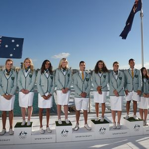 Aussies unveil 'retro candy stripe' uniforms for Rio