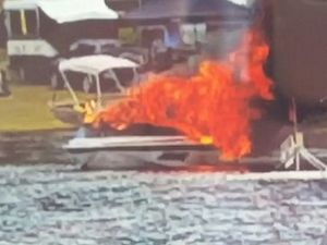 WATCH: Boat catches fire at Kinchant Dam on the weekend