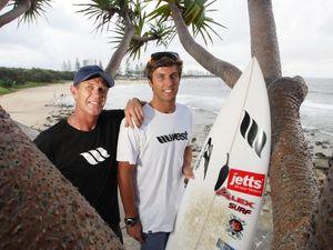 Surfing coach Robbie Sherwell's horror arm injury