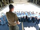 THINGS got very serious and very real for 120 Australian Air Force Cadets (AAFC) as they approached the Air Force C-130J Hercules transport.