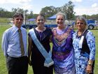 Dr Greg Wilson, Kyogle Mayor Danielle Mulholland, Woodenbong Miss Showgirl Amy Kearney and Margaret Martin, president of the Woodenbong Show Committee.