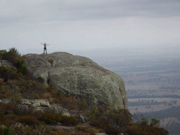 Even in hazy weather, the views from the top of Mt Walsh are impressive. Photo Jenny Munro / Fraser Coast Chronicle