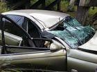 Lynette Tompkins was run off the road on the Greens Creek Bridge on Cedar Pocket Rd on Monday.