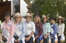 Grafton Show Day 1: This years Show Girls spend the day with last year's winner Fiona Green. L/R: Tammi Connor, Oilivia Hayes, Helen King, Fiona Green, Kimberley Morgan, Makayla Richardson and Tara Stout