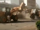 Heavy machines do battle in China