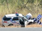 Scene of a fatal crash at access 4 on Yeppoon Rd. Photo Allan Reinikka / The Morning Bulletin